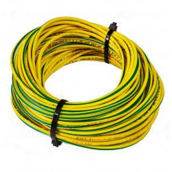 Cable unipolar  6,00mm2  x  25mts. verde-ama