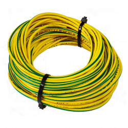 Cable unipolar  6,00mm2  x  40mts. verde-ama