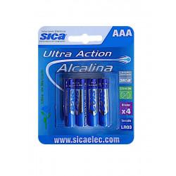 Pila alcalina sica extrachica 1,5v 4 unidades blister...