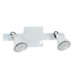 Aplique san justo galia 2 luces gu10 blanco regleta 35cms