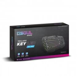 Teclado soul game-xk700 gamer usb rgb