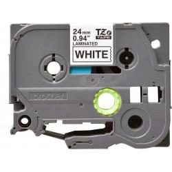 Repuesto cinta brother tze-251 para rotuladora negro-blanco