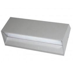 Aplique tbc indus rectangular led 4x1w 4000°k ip54 gris