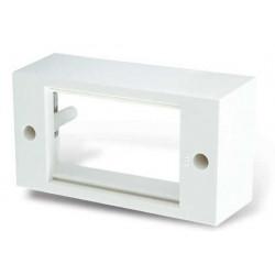 Tapa capuchon cambre sxxi para exterior de 4 módulos blanco