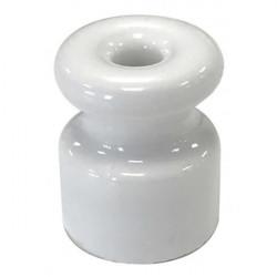 Aislador rienda porcelana blanca para antena 37x25 mm