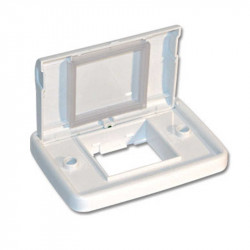 Bastidor jeluz estanco con tapa 10x5 para 2 módulos blanco