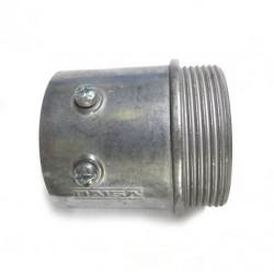 Conector gc largo 2 aluminio sin tuerca