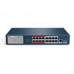 Switch hikvision ds-3e0318p-e/m de 16 puertos poe 10/100