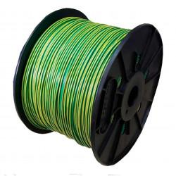Cable unipolar 1x  1,5mm2 bobina verde/amar.iram 2183