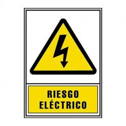 Etiqueta genrod q energy de riesgo electrico 110x150mm