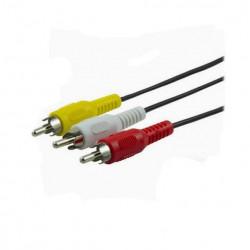 Cable ge para audio-video 3 rca a 3 rca