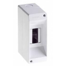 Hp caja tm pvc din exterior  s/puerta 1 a 2 mod.blanco