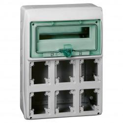 Caja schneider minikaedra para tomas de seis aberturas de...