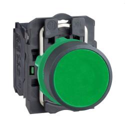 Pulsador schneider rasante plástico 1na verde