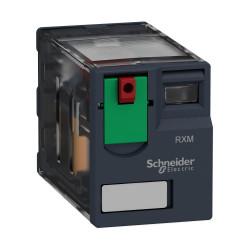 Relé miniatura schneider zelio rxm4ab1p7 de 6a 4nanc...