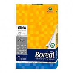 Resma boreal 500 hojas papel oficio 80g