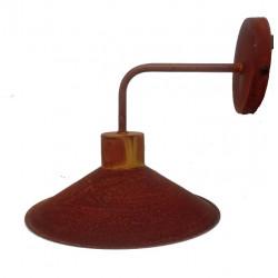 Ros san justo ensenada aplique chapa d25 1 luz e27 oxidado