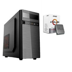 Cpu jalatec amd athlon 3000g ssd 240gb ram 4gb incluye...
