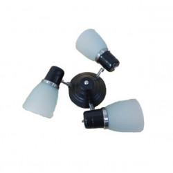 Araña para ventilador ilumros 3 luces negro