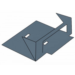 Terminal basica acometida a tablero perforada 150 mm