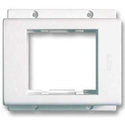 Tapa jeluz exterior porta módulos doble blanco