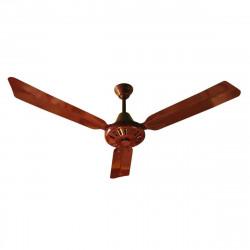 Ventilador de techo everest ax3 70w con 3 palas color marrón