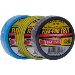 Tacsa cinta aisladora pvc profesional flex-pro 10m negro