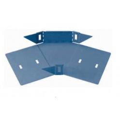 Curva plana basica 45° perforada 50mm con clips y flags