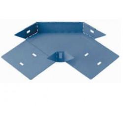 Curva plana basica 90° perforada 50mm con clips y flags