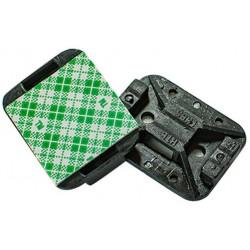 Placa adhesiva hellermann negro 32x25x6.8mm usar con...