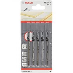 Bosch hoja calar set x5 p/madera t101ao