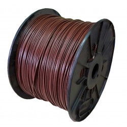 Cable unipolar 1x  1  mm2 bobina marron iram 2183