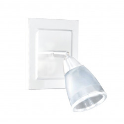 Spot san lorenzo ancona 1 luz g9 con base color blanco