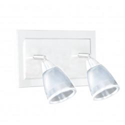 Spot san lorenzo ancona 2 luces g9 con base blanco