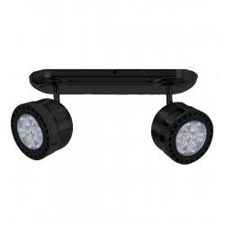 Aplique spot san lorenzo 2911 2 luces con base regleta negro