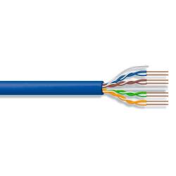Cable utp amp c6 azul por metro