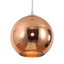 Colgante etheos col25ce esferico e27 25cm cobre