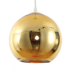 Colgante etheos esferico e27 de 30cm dorado