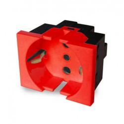 Módulo toma corriente cambre schuko r7618 16a rojo