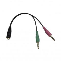 Cable para audio nisuta stereo 2x3.5 macho a hembra 3...
