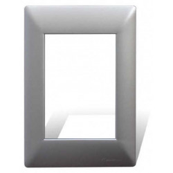 Tapa cambre mignon sxxii de 4 módulos aluminio