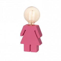 Velador carilux silueta de nena e27 15cm rosa
