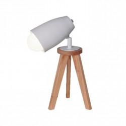 Lámpara de mesa carilux tripode e27 de madera paraiso...