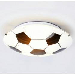 Plafón carilux futbol 1 luz e27 de vidrio 30cm