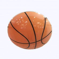Plafón carilux basquet 1 luz e27 de vidrio 30cm