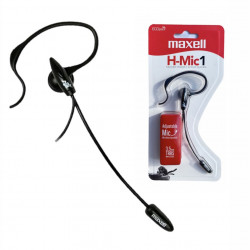 Auriculares maxell h-mic1 operador mono-streamer stereo...