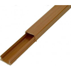 Prm cable canal madera 20x 10mm (tramo 2m) c/adh.uv/antillam