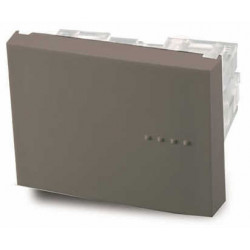 Módulo interruptor cambre bauhaus tecla doble gris combinado