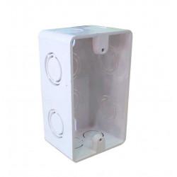 Caja de embutir tecnocom de pvc rectangular