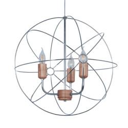 Colgante carilux a13 jaula en forma de atomo para 3 luces...